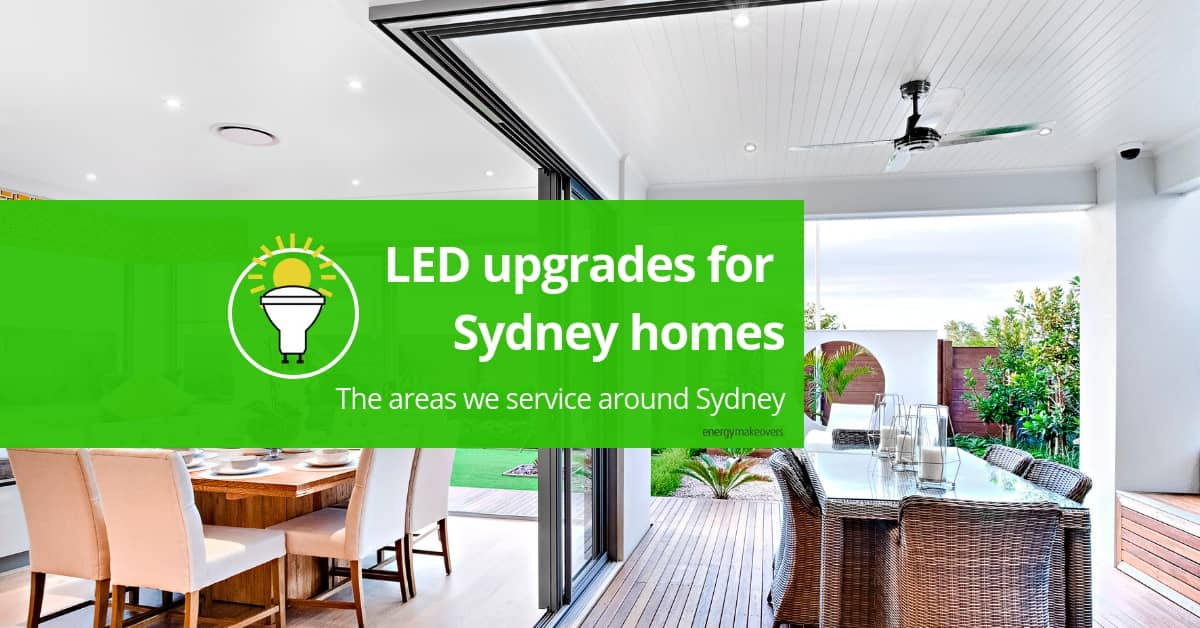 Areas of Sydney eligible for LED upgrades