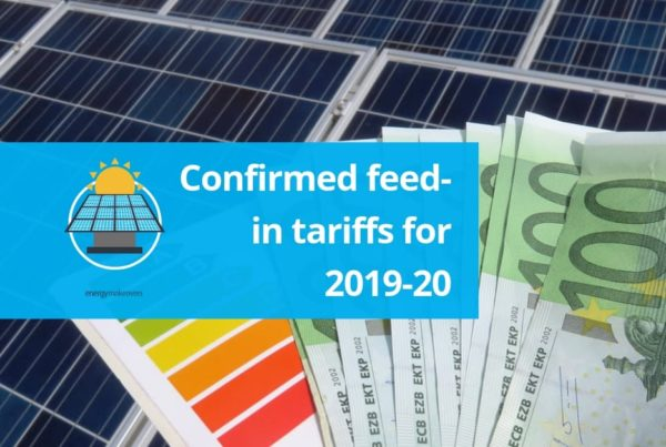 Confirmed feed in tariff rates 2019