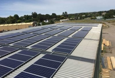 Solar panels on Epping Timber