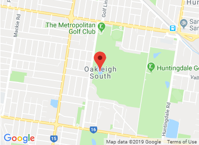 Map of Oakleigh South