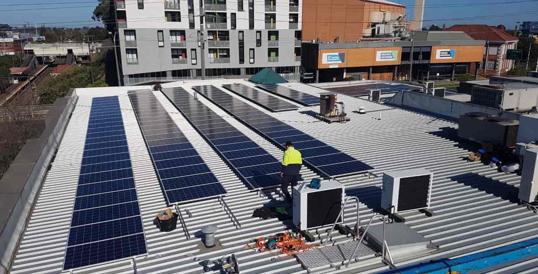 Solar installation at Barakat