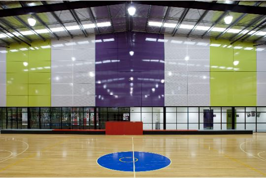 Interior of a sports hall in Cardinia Shire