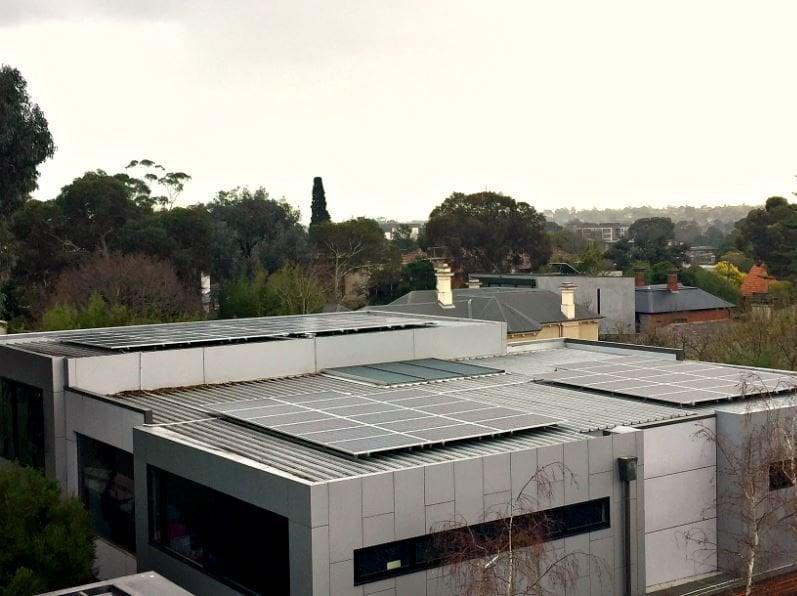 solar roof on St Josephs