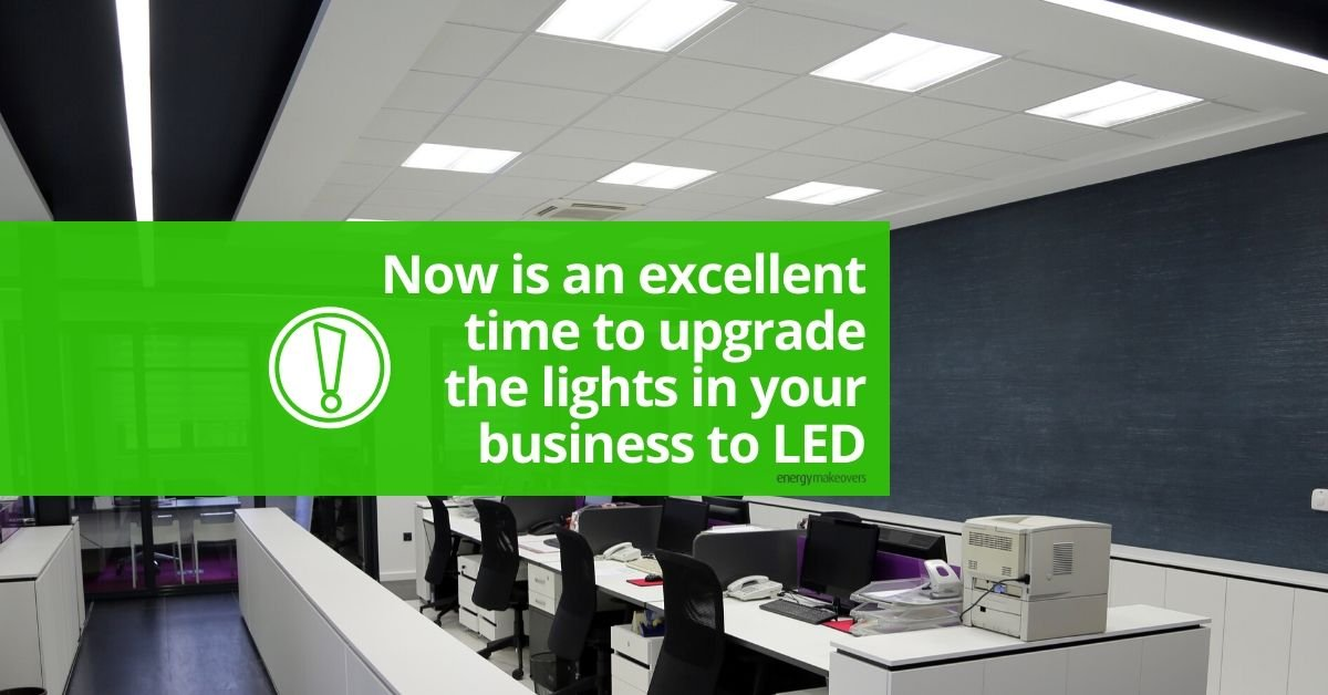Now is an excellent time to upgrade the lights in your business to LED