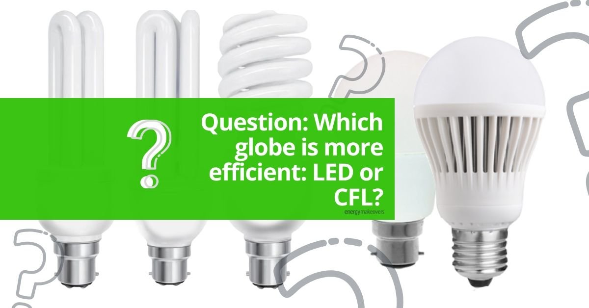 Which globe is more efficient CFLs or LEDs