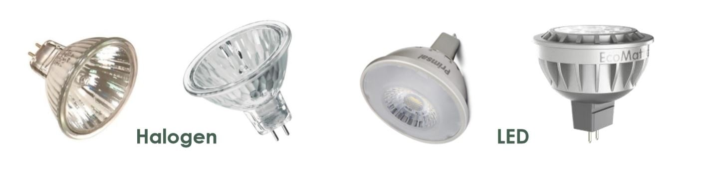 halogen vs LED MR16s