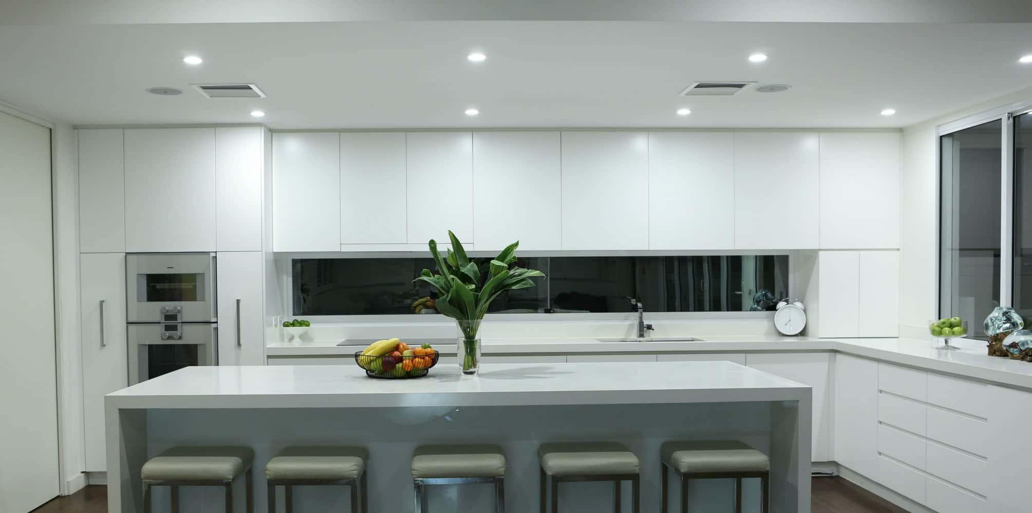 A kitchen in Sydney after an LED upgrade