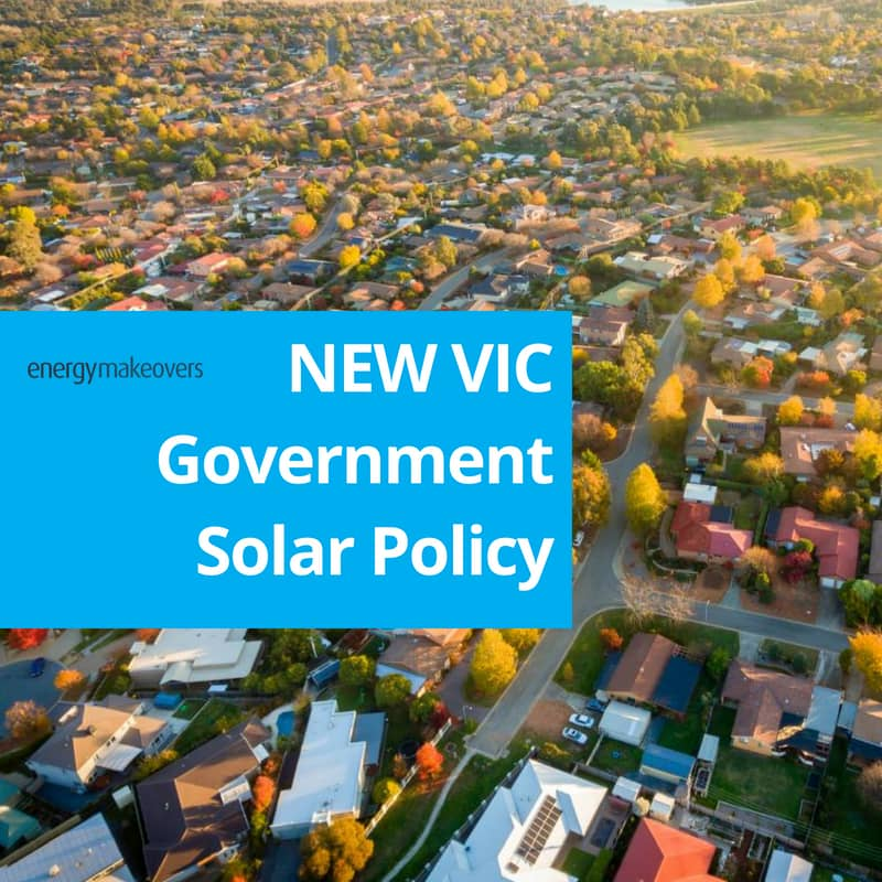 A New Victorian government solar policy