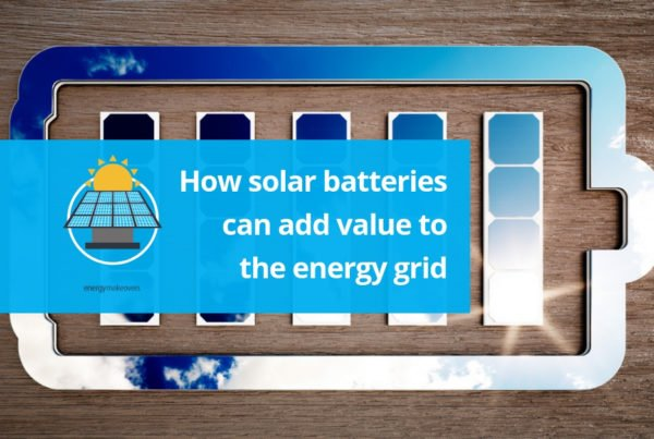 how solar batteries add value