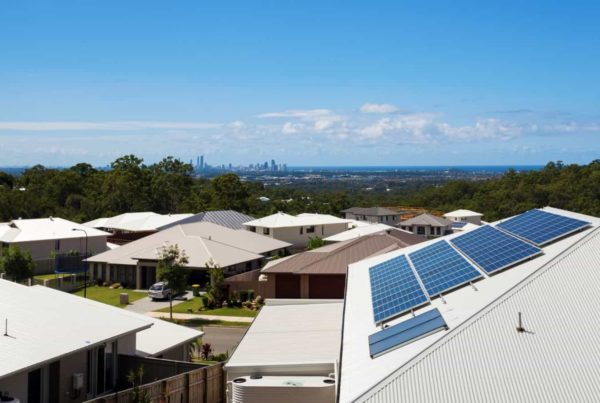 Solar panels on a Melbourne house
