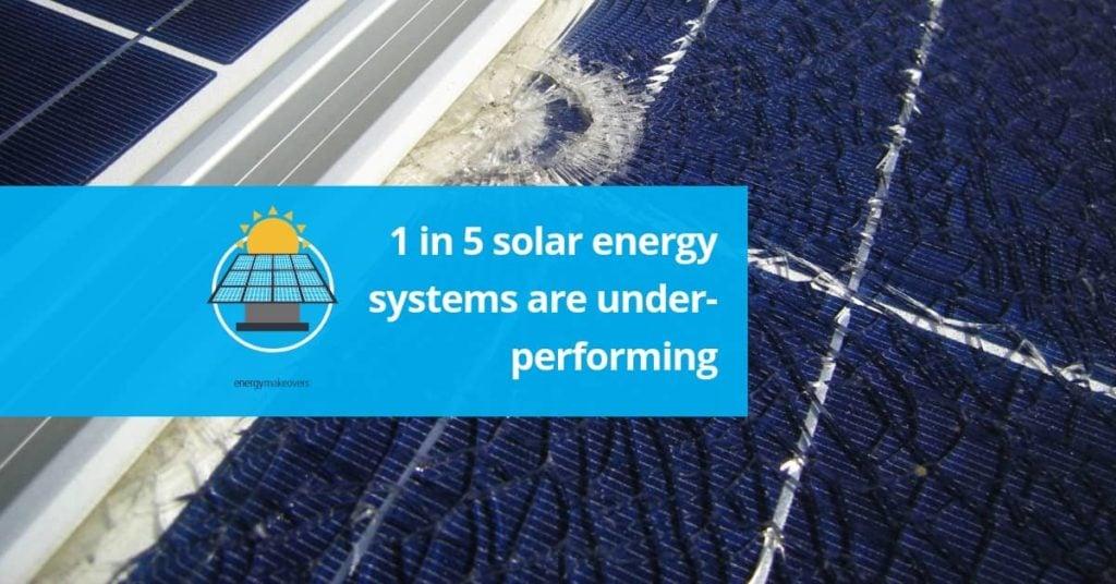 underperforming solar panels